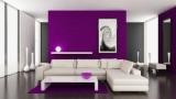 Фиолетовые стены в интерьере – особенности дизайна и комбинации